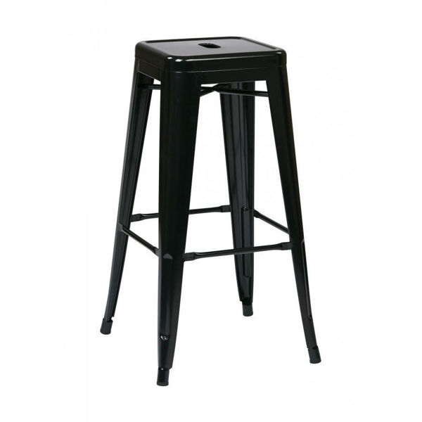 Picture of 30-Inch Mtl Black Backless Stool, 2-Pack *D