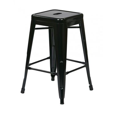 Picture of 24-Inch Mtl Black Backless Stool, 2-Pack *D