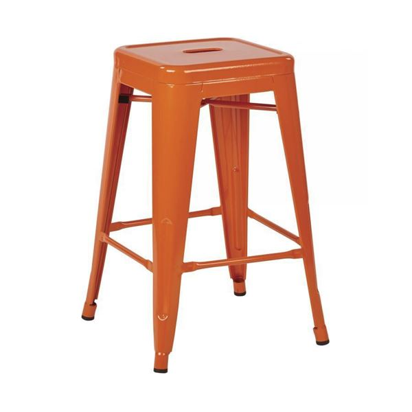 Picture of 24-Inch Mtl Backless Orange Stool, 2-Pack *D