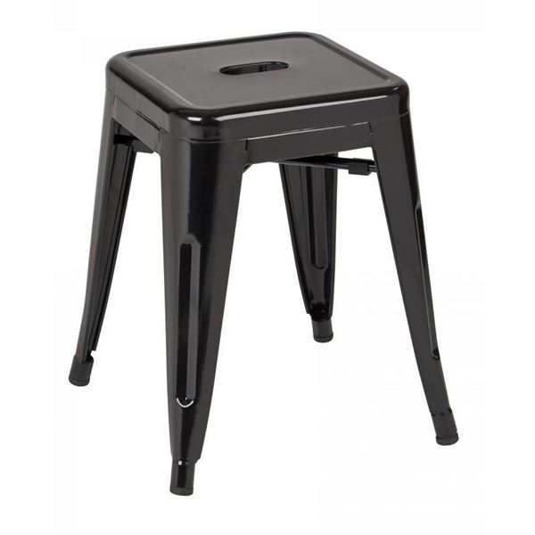 Picture of 18-Inch Mtl Backless Black Stool, 4-Pack *D