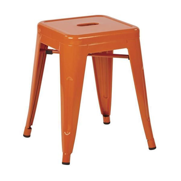 Picture of 18-Inch Mtl Backless Orange Stool, 4-Pack *D