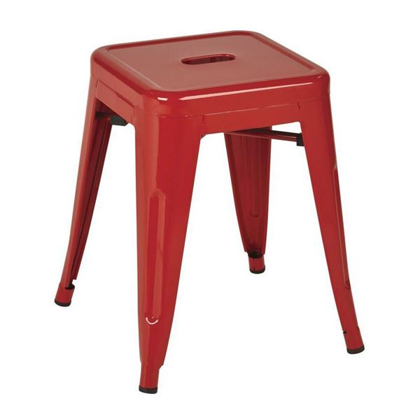 Picture of 18-Inch Backless Mtl Red Stool, 2-Pack *D