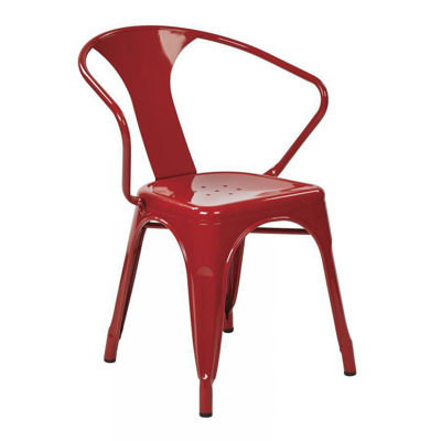 Picture of 30-InchRed Metal Chair, 2-Pack *D