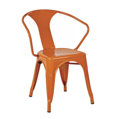 Picture of 30-InchOrange Metal Chair, 2-Pack *D