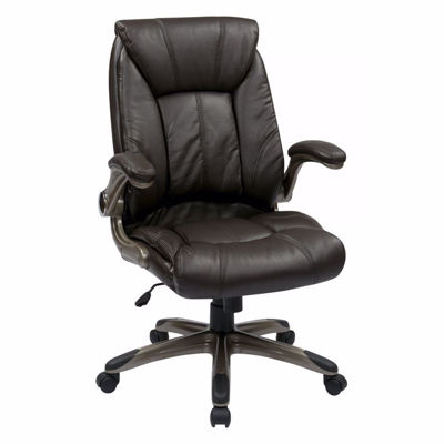 Picture of Brown Faux Leather Mid Back Managers Office Chair *D