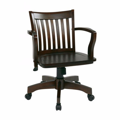 Picture of Espresso Wood Office Chair 105ES *D
