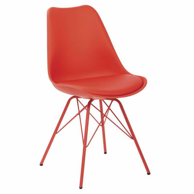 Picture of Emerson Student Side Chair W/ 4 Leg base Red *D