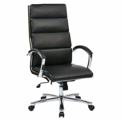 Picture of High Back Exec Black Faux Leather Chair *D