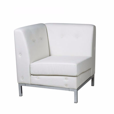 Picture of Wallstreet White Corner Chair *D