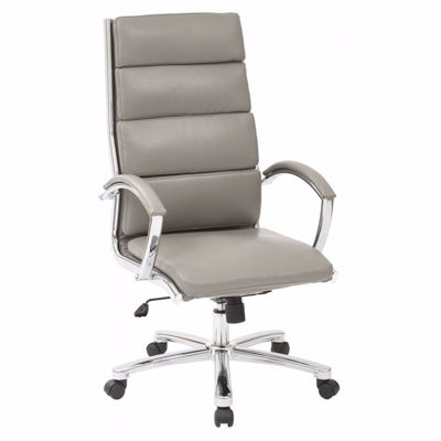 Picture of High Back Exec White Faux Leather Chair FL5380C-U22 *D