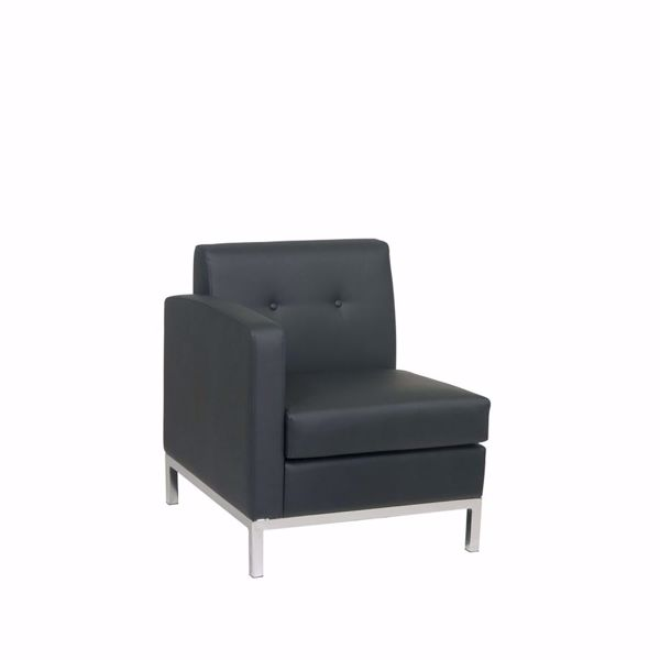 Picture of Wallstreet Black Arm Chair Laf *D