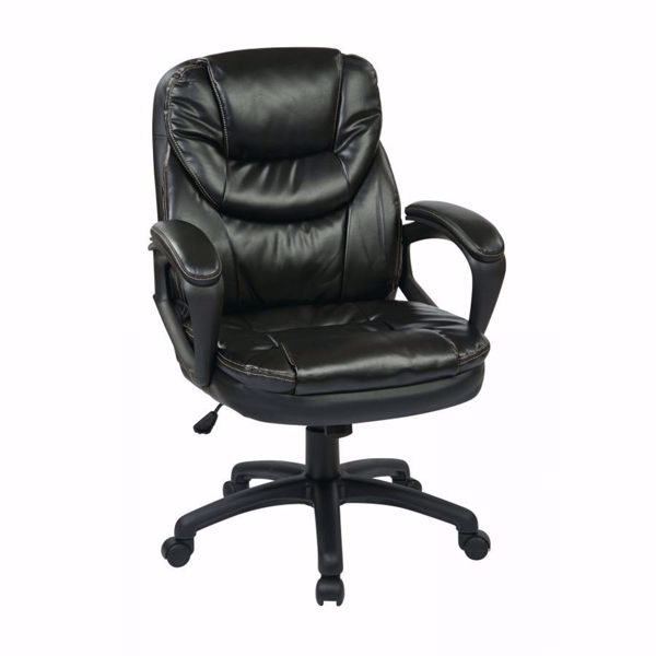 Picture of Faux Leather Managers Chair with Padded Arms FL660-U6 *D