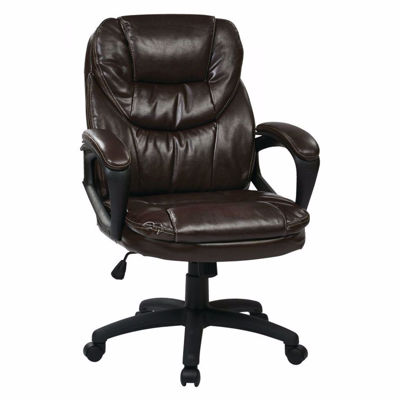 Picture of Faux Leather Managers Chair with Padded Arms FL660-U2 *D