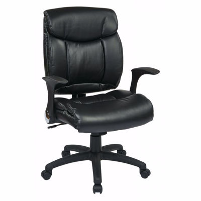 Picture of Faux Leather Managers Chair with Flip Arms *D