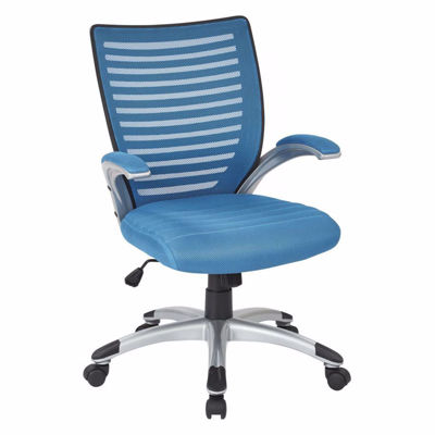 Picture of Mesh Blue Seat and Screen Back Chair Padded *D