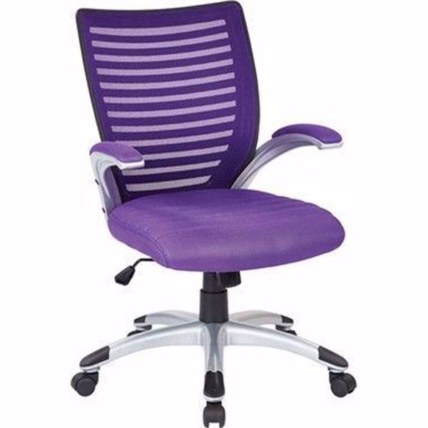 Picture of Mesh Purple Seat and Screen Back Chair Padded *D