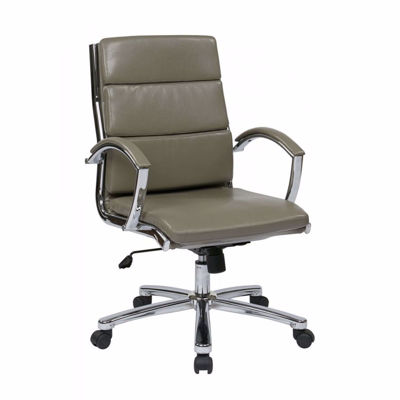 Picture of Mid Back Exec Smoke Faux Leather Chair *D