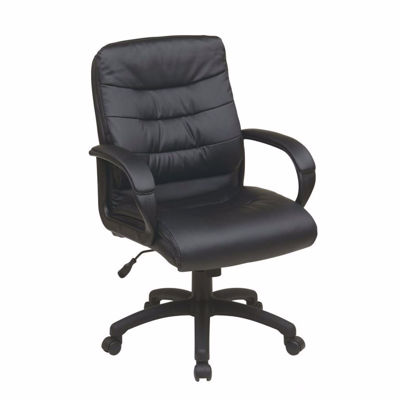Picture of Mid Back Faux Leather Exec Chair *D