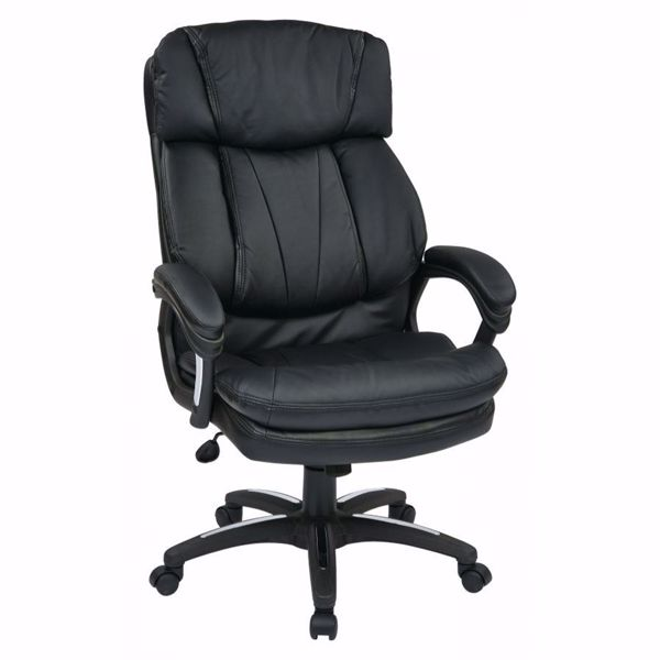 Picture of Oversized Faux Leather Exec Chair Padded Arms *D