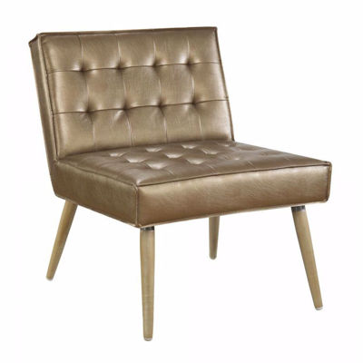 Picture of Copper Tuffed Accent Chair *D