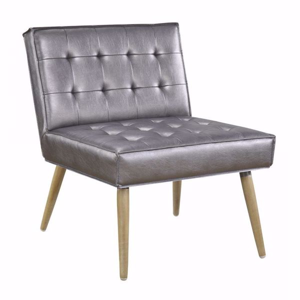 Picture of Pewter Tuffed Accent Chair *D