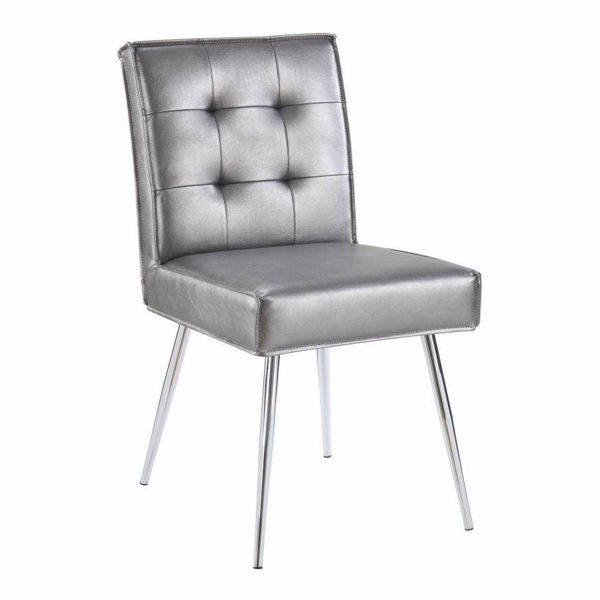 Picture of Pewter Tuffed Dining Chair *D