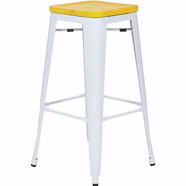 Picture of Bristow Metal Barstool Wd Seat 4 Pack *D