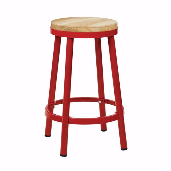 Picture of Bristow Red Backless Barstool *D