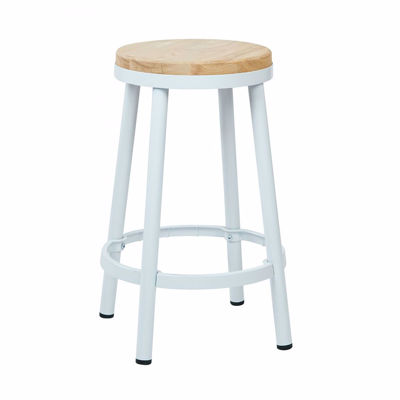 Picture of Bristow White Backless Barstool