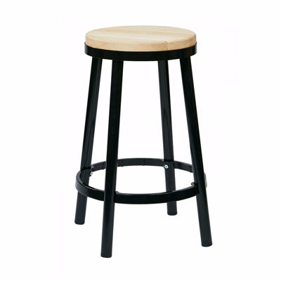 Picture of Bristow Black Backless Barstool *D