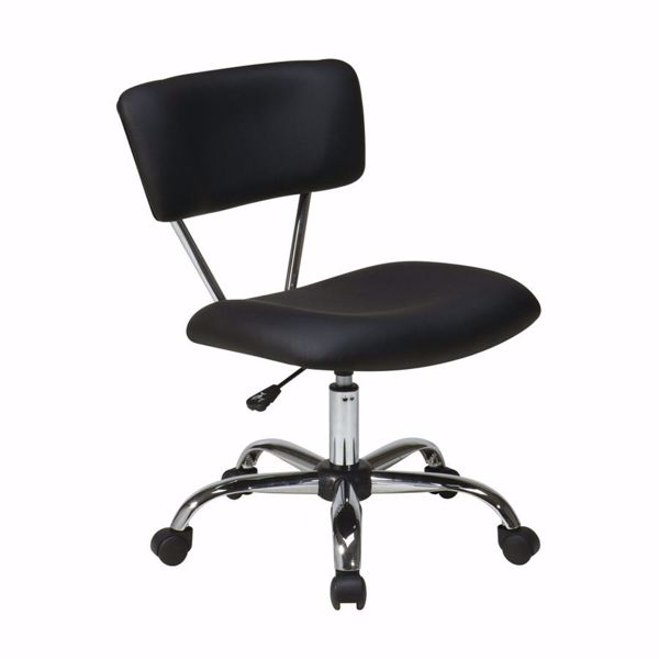 Picture of Vista Black Vinyl Office Chair *D