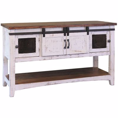 Picture of Pueblo White Sofa Table