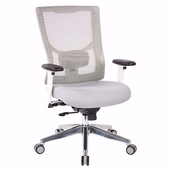 Picture of Progrid White Mesh Off Chair 95672 *D