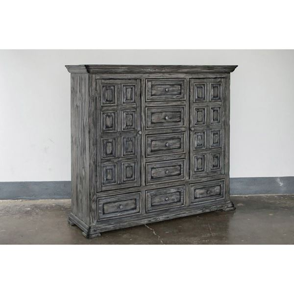 Picture of Grey Isabella 7-Drawer Dresser Cabinet