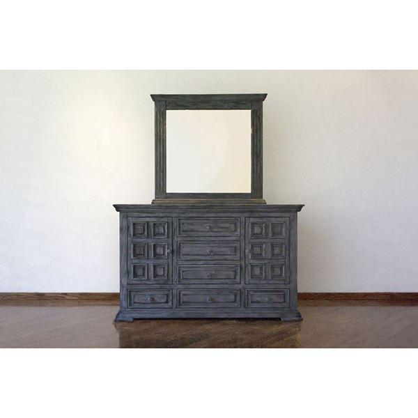 Picture of Grey Isabella 6-Drawer Door Dresser