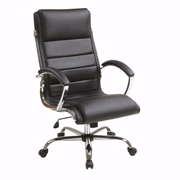 Picture of Black faux leather thick padded Exec Chair *D