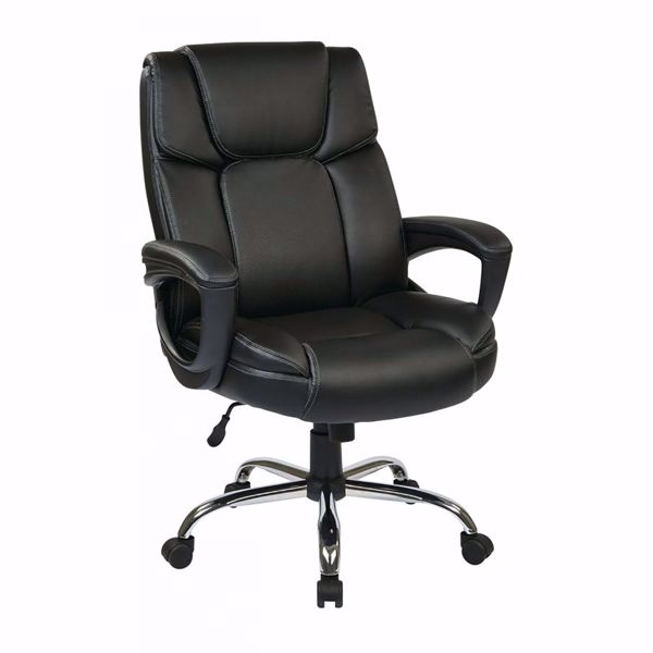 Picture of Black Bonded Leather Off Chair EC22070-EC3 *D