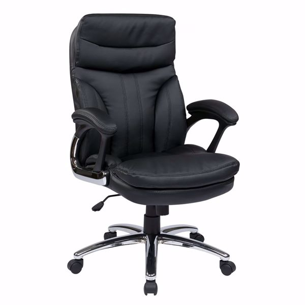 Picture of Hi Back Exec Faux Leather Chair w/ Padded Arms *D