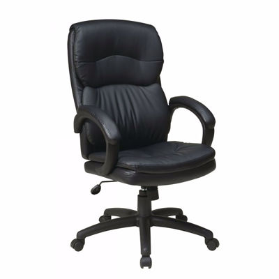 Picture of High Back Black Bonded Leather Exec Chair *D