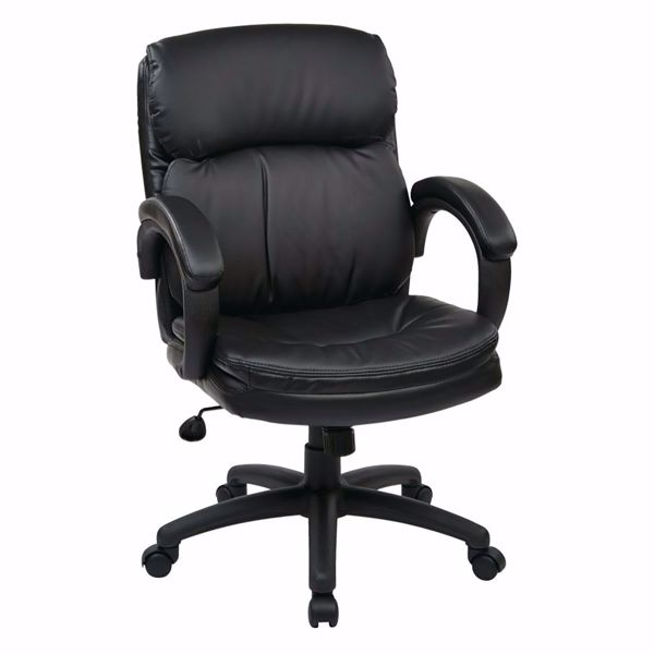 Picture of Mid Back Black Bonded Leather Exec Chair *D