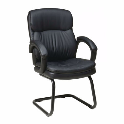 Picture of Bonded Leather Visitors Chair with Padded Arms *D