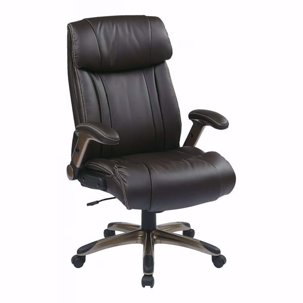 Picture of Exec Bonded Leather Chair Cocoa/Espresso | ECH38615A-EC1 *D