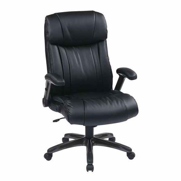 Picture of Exec Bonded Leather Chair Titanium/Black *D