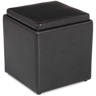 Picture of Blocks Brown Storage Ottoman with Tray