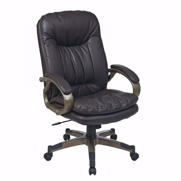 Picture of Exec Espresso Bonded Leather Chair ECH83501-EC1 *D