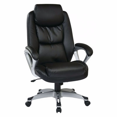 Picture of Exec Bonded Leather Chair with Padded Arms ECH89186-EC3 *D