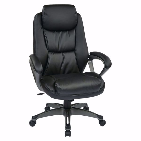 Picture of Exec Bonded Leather Chair with Padded Arms ECH89187-EC3 *D