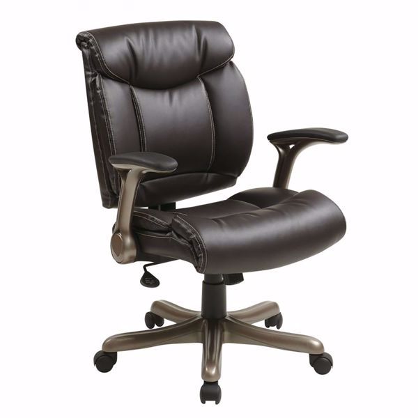 Picture of Exec Bonded Leather Chair in Cocoa/Espresso *D