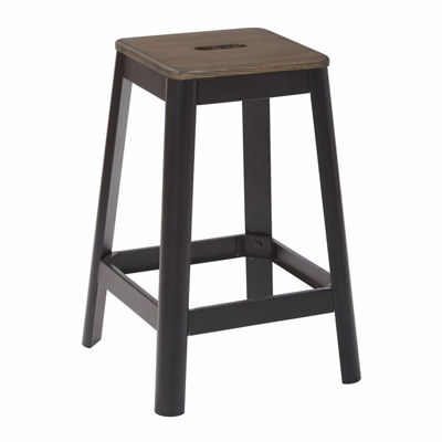 Picture of Hammond 26in Dark WD Mtl Frosted Black Barstool *D