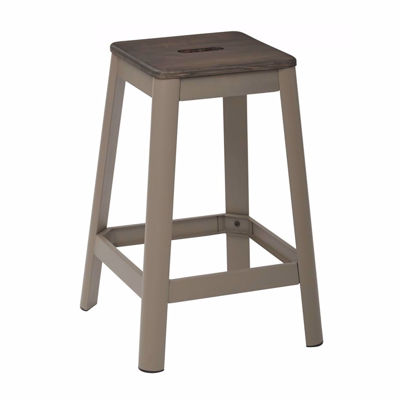 Picture of Hammond 26in DK WD Mtl Frost Espresso Barstool *D